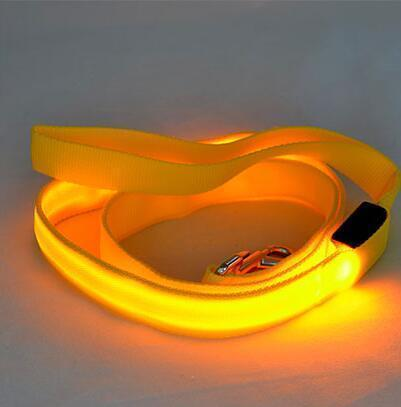 multi color dog led leash Stunning Pets Yellow 25mm