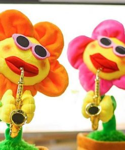 Musical Singing and Dancing Saxophone Sunflower Pet Toy GlamorousDogs