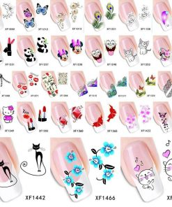 Nail Water Transfer Stickers Stunning Pets