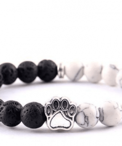 Natural Stone Paw Bracelet Essentials Stunning Pets
