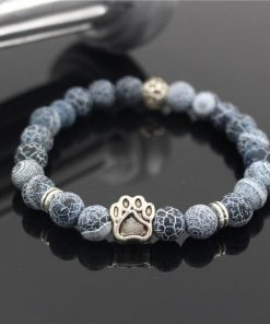 Natural Stone Paw Bracelet Essentials Stunning Pets Model 10 size s