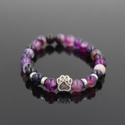 Natural Stone Paw Bracelet Essentials Stunning Pets Model 11 size s