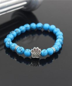 Natural Stone Paw Bracelet Essentials Stunning Pets Model 12 size s