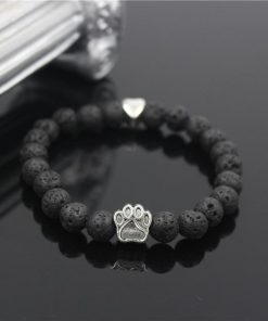 Natural Stone Paw Bracelet Essentials Stunning Pets Model 14 size s