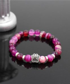 Natural Stone Paw Bracelet Essentials Stunning Pets Model 15 size s