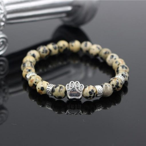 Natural Stone Paw Bracelet Essentials Stunning Pets Model 16 size s