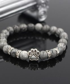 Natural Stone Paw Bracelet Essentials Stunning Pets Model 1 size s