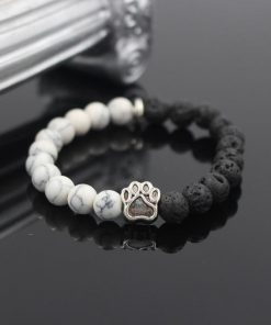 Natural Stone Paw Bracelet Essentials Stunning Pets Model 4 size s