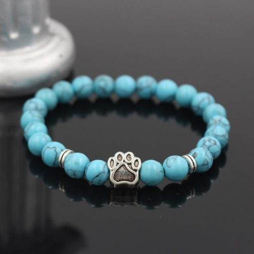 Natural Stone Paw Bracelet Essentials Stunning Pets Model 6 size s