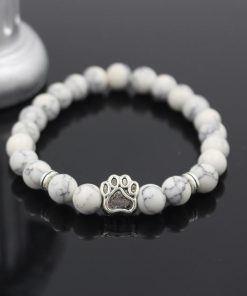 Natural Stone Paw Bracelet Essentials Stunning Pets Model 7 size s