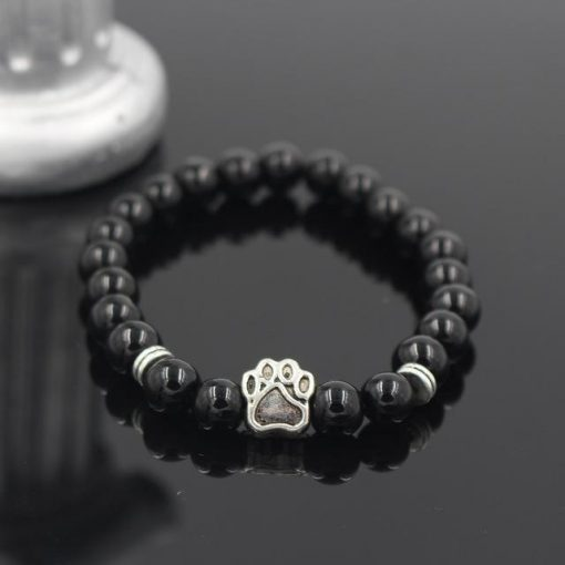 Natural Stone Paw Bracelet Essentials Stunning Pets Model 8 size s