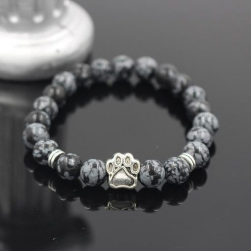 Natural Stone Paw Bracelet Essentials Stunning Pets Model 9 size s