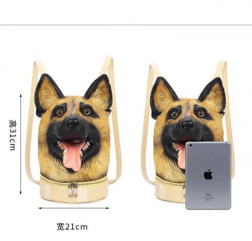 New Fashion 3d Backpack Dog Avatar Backpack Trend Casual Creative Backpack Stunning Pets