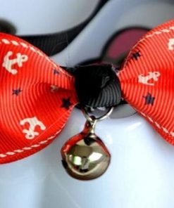 New Lovely Adjustable 6 Colors Plaid Leopard Print with Bell Necklace Stunning Pets Red anchor Adjustable