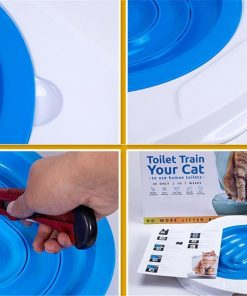 No mess collecting cat's litter with the Cat Toilet Litter Trainer Stunning Pets