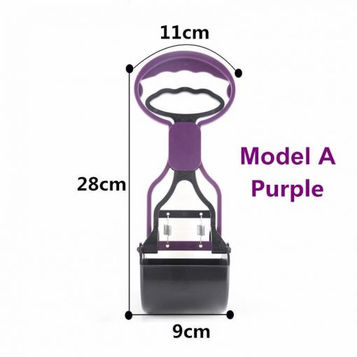 No more collecting feces with Long Handle Pooper Scooper Stunning Pets Purple M