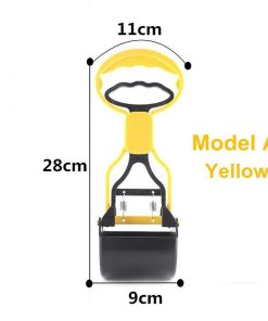 No more collecting feces with Long Handle Pooper Scooper Stunning Pets Yellow M