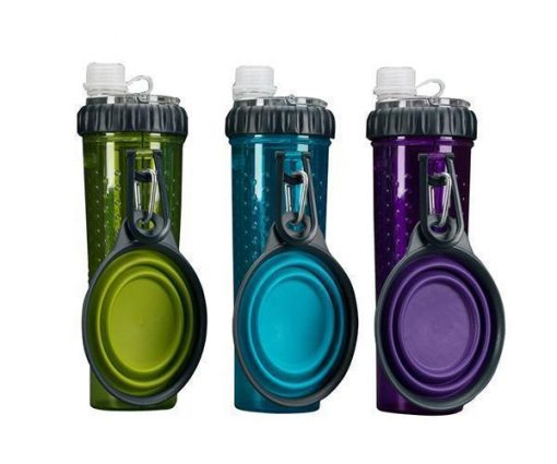 Outdoor Pal 2 in 1 Water/Food Bottle with Folded Bowl Stunning Pets