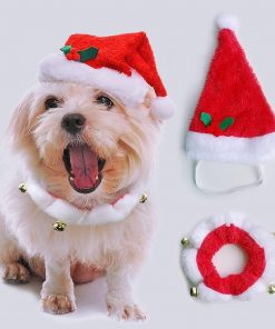 Pet Christmas Hat & Scarf Christmas Hat GlamorousDogs