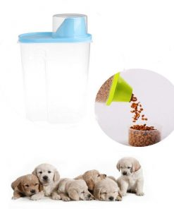Pet Food Storage Container With Measuring Cup, BPA-Free Food Storage Container GlamorousDogs