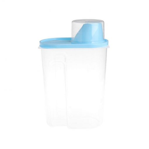 Pet Food Storage Container With Measuring Cup, BPA-Free Food Storage Container GlamorousDogs Blue