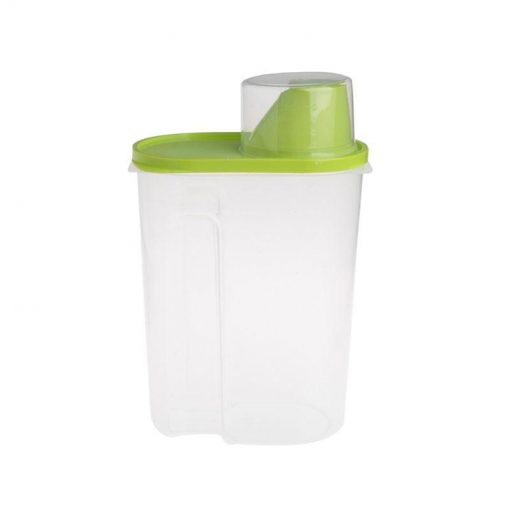 Pet Food Storage Container With Measuring Cup, BPA-Free Food Storage Container GlamorousDogs Green