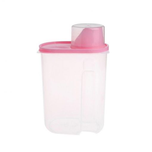 Pet Food Storage Container With Measuring Cup, BPA-Free Food Storage Container GlamorousDogs Pink
