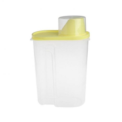 Pet Food Storage Container With Measuring Cup, BPA-Free Food Storage Container GlamorousDogs Yellow