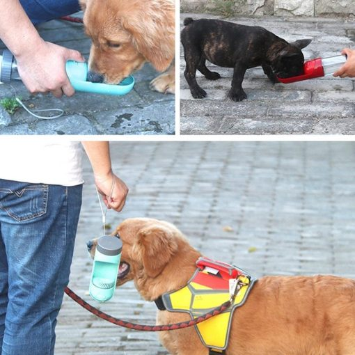 Portable One-handed Watering Bottle Dispenser Dog Bottle GlamorousDogs