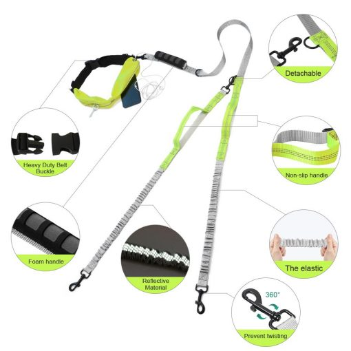 Best Elastic Double Leash For Dogs - Super Useful For Running 11