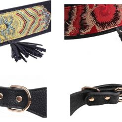 Luxury and Strong Dog Leather Collars - 5 Different Patterns 15