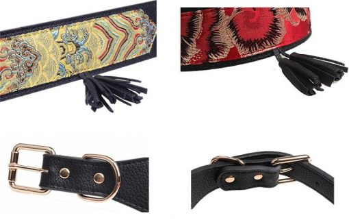 Luxury and Strong Dog Leather Collars - 5 Different Patterns 7