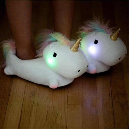 The Magical Glowing Unicorn Slippers - (Free Shipping Now)