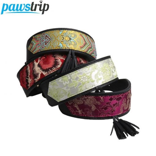 Luxury and Strong Dog Leather Collars - 5 Different Patterns 1
