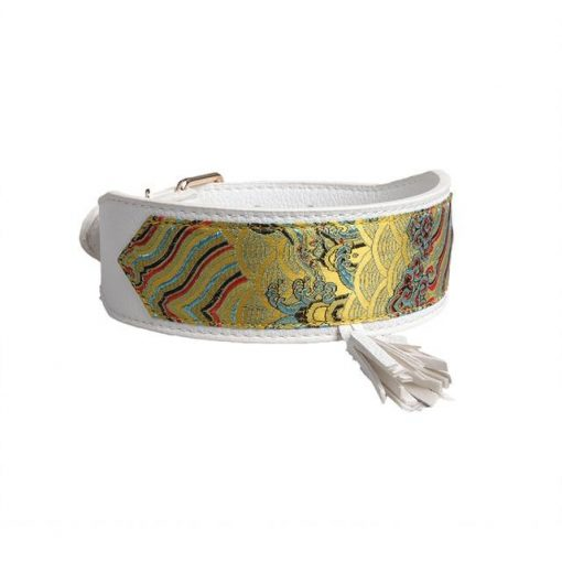 Luxury and Strong Dog Leather Collars - 5 Different Patterns 6