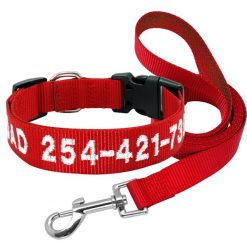 2020 Best High Quality Nylon Easy Adjustable Dog Collar & Leash 15