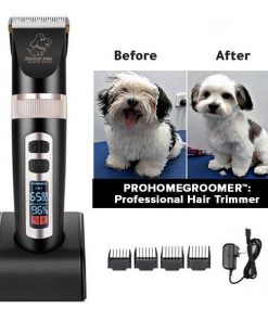 PROHOMEGROOMER™: All in 1 Pet Grooming Kit Dog Grooming kit GlamorousDogs Black (Special Edition) Pro Trimmer