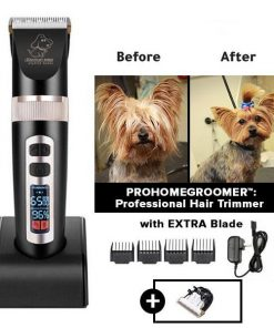 PROHOMEGROOMER™: All in 1 Pet Grooming Kit Dog Grooming kit GlamorousDogs Black (Special Edition) Pro Trimmer +Extra Blade
