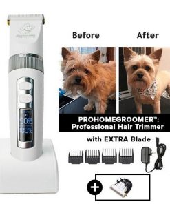 PROHOMEGROOMER™: All in 1 Pet Grooming Kit Dog Grooming kit GlamorousDogs White Pro Trimmer +Extra Blade