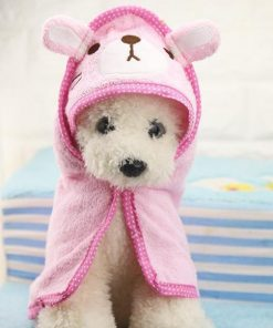 Puppy Super Absorbent High Quality Towel Stunning Pets Pink L 55x55cm