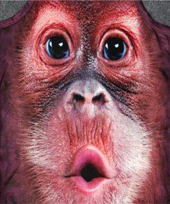 Realistic 3D Monkey head T-shirt Stunning Pets