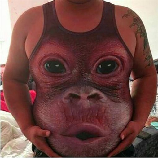 Realistic 3D Monkey head T-shirt Stunning Pets XL As Seen On Picture