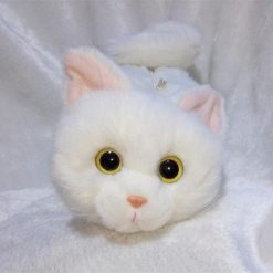 Realistic Fur Cat Purse With Adjustable Metal Strap | Free Shipping Stunning Pets white