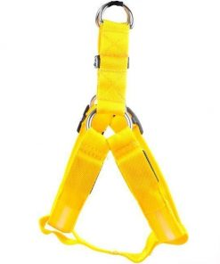 Reflective Night Safety LED Vest to Keep You and Your Dog Safe Stunning Pets Yellow L