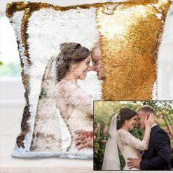 Sequin Pillow Reversible  Custom Sequin Pillow Custom Cushion GlamorousDogs