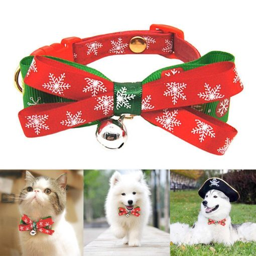 Snowflake Tie Xmas Collar Tie - For Christmas gifts Stunning Pets