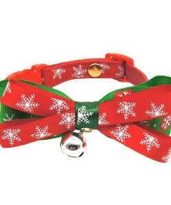 Snowflake Tie Xmas Collar Tie - For Christmas gifts Stunning Pets As Picture L