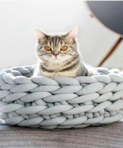 """SOFAHOUSE™: The Elegant Cotton Wool House Your Pet Needs This Winter Wool Pet Sofa GlamorousDogs Silver 14""""x14"""""""