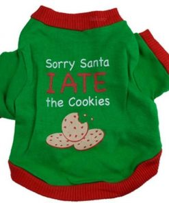 Sorry Santa I Ate The Cookies Puppy Sweatshirt Stunning Pets Green L