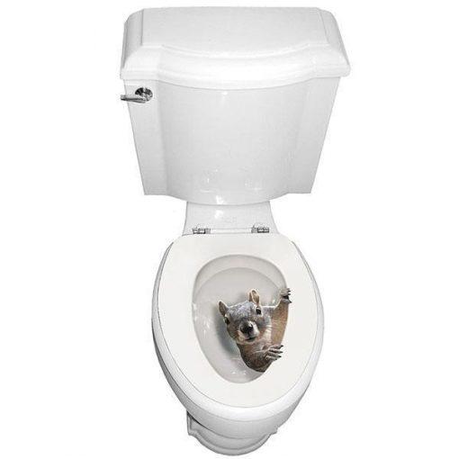 Squirrel Toilet Seat Decal Sticker Stunning Pets